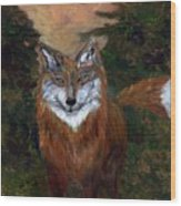 Red Fox - Www.jennifer-d-art.com Wood Print
