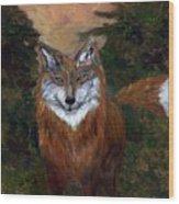 Red Fox - www.jennifer-d-art.com Wood Print