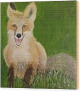 Red Fox 2 Wood Print