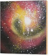 Red Galaxy Wood Print