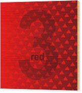 Red God Three Wood Print