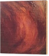 Red-gold Wood Print