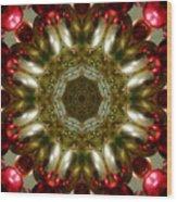 Red Gold Kaleidoscope 1 Wood Print