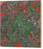 Red Green Blue Compressed Wood Print