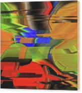 Red Green Yellow Blue Wood Print