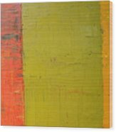 Red Green Yellow Wood Print