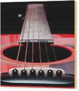 Red Guitar 16 Wood Print