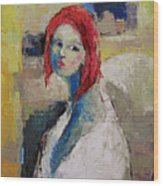 Red Haired Girl Wood Print