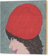 Red Hat Wood Print