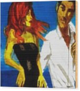 Red Head Looking For Mr Right  Wood Print
