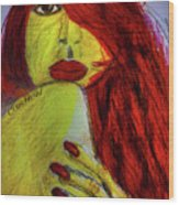 Red Headed Step Child Wood Print