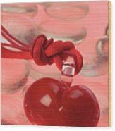 Red Heart Of Love Wood Print