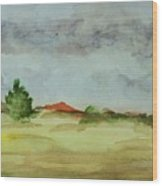 Red Hill Landscape Wood Print