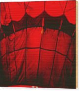 Red Hot Air Balloon Wood Print