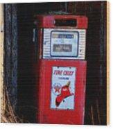 Red Hot Gasoline Wood Print