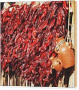 Red Hot Peppers Wood Print