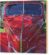 Red Hot Rod Wood Print