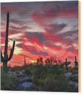 Red Hot Sonoran  Wood Print