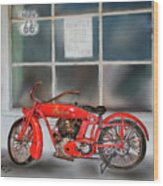 Red Hot Tail Gunner Wood Print