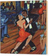 Red Hot Tango Wood Print