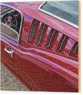 Red Hot Vents - Classic Fastback Mustang Wood Print