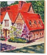 Red House In Clayton Wood Print
