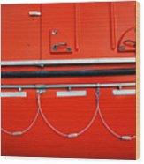 Red Hull Wood Print