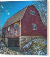 Red Indiana Barn Wood Print
