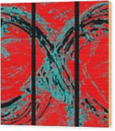 Red Infinity Modern Painting Abstract By Robert R Splashy Art Wood Print
