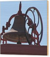 Red Iron Bell Wood Print