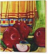 Red Juicy Apples Wood Print