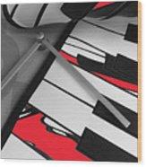 Red Keys Wood Print