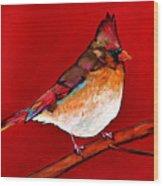 Red Lady Wood Print