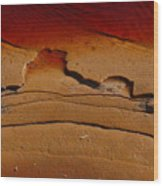 Red Lake Wood Print