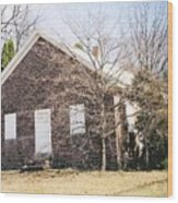Red Land Quaker House Wood Print by Darlene Prowell