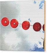 Red Lanterns In Chinatown Wood Print
