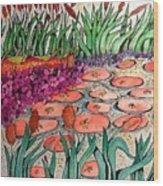 Red Lillies 2 Wood Print