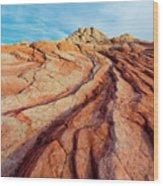 Red Lines Wood Print