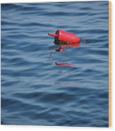 Red Lobster Buoy Wood Print