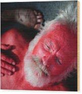 Red Man Wood Print