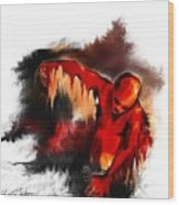 Red Man Wood Print