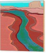 Red Mesa Wood Print