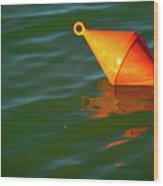 Red Mooring Buoy Wood Print