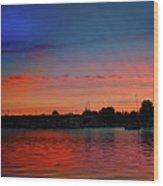 Red Morning Sun  Wood Print
