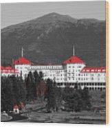Red Mount Washington Resort Wood Print