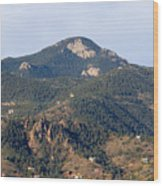 Red Mountain In The Foothills Of Pikes Peak Colorado Wood Print