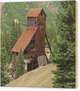 Red Mountain Mine. Wood Print