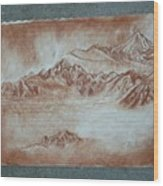 Red Mountains Wood Print