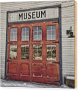 Red Museum Door Wood Print