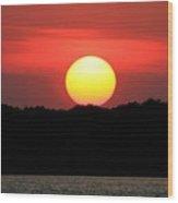 Red Myakka Sunset Wood Print